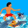 Surfer Snap Killer Shark Jaws over south Bikini Beach paranoia free ios